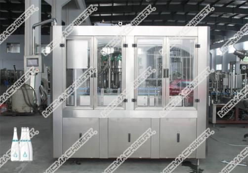Juice filling capping machine for glass bottle
