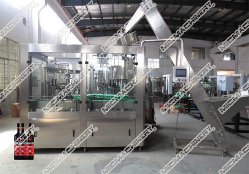 Liquor filling capping machine for glass bottle