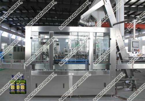 Hot juice filling capping machine for glass bottle
