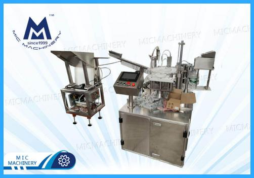Plastic syringe filling machine