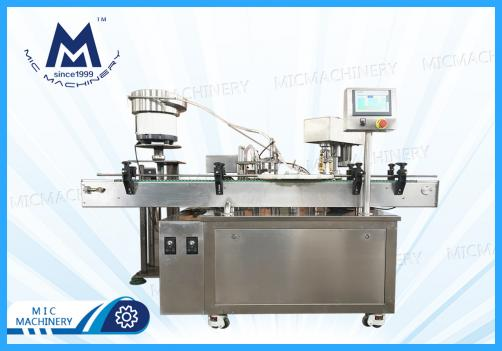 Penicillin bottle filling machine ( MIC-L40 Small glass Bottle Filling Corking And Seaming Machine )