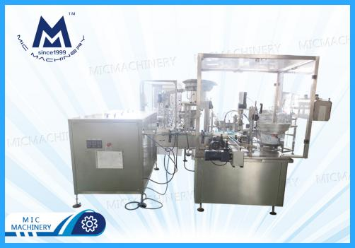 Eye-drops filling capping machine ( MIC-E40 Small plastic bottle E-liquid filling plugging capping machine )