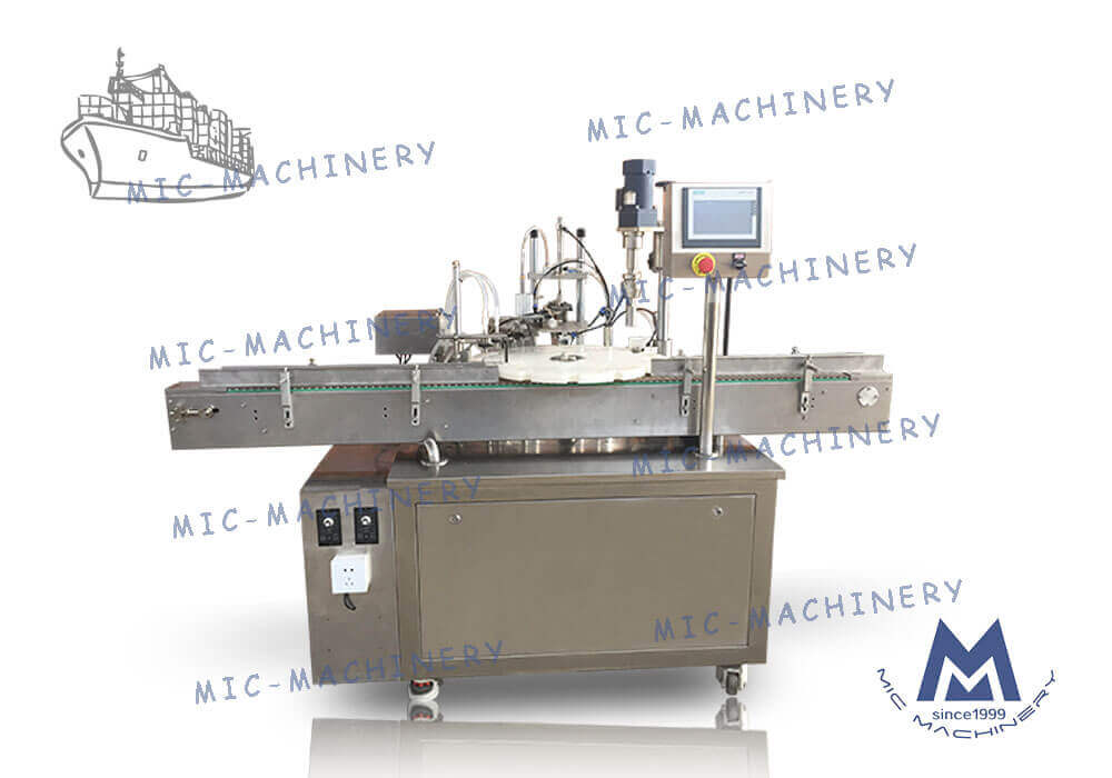 Export to Britain of L45 e-Liquid filling and capping machine