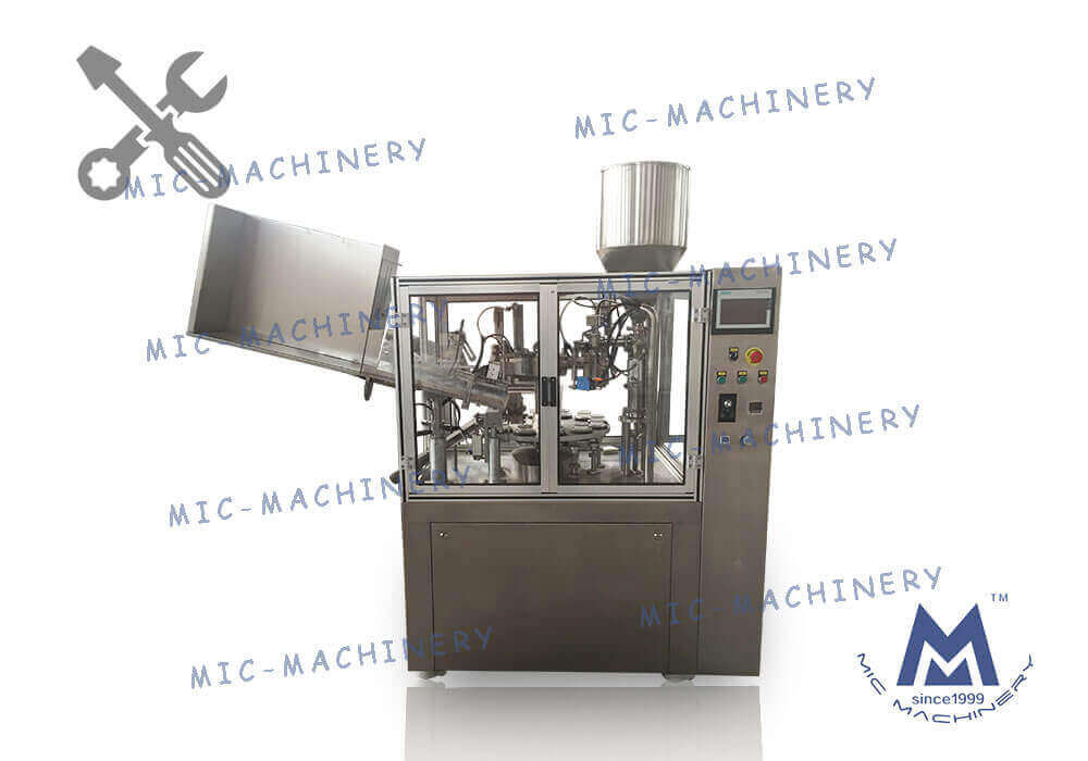 MIC-R60-I auto soft tube filling & sealing machine with heating gun debugging video