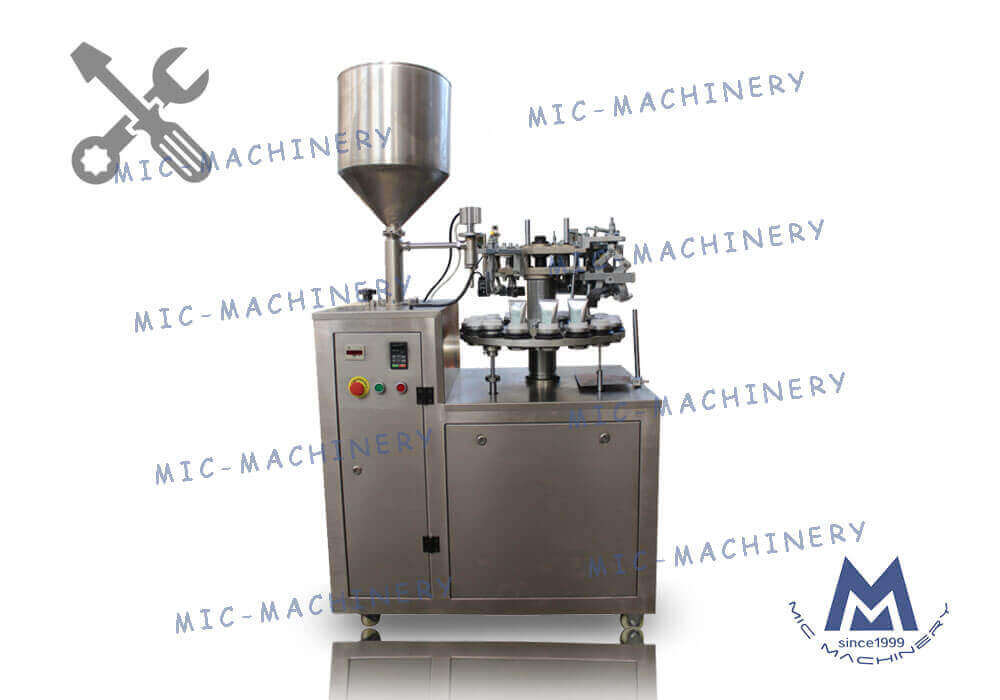 MIC-L30 aluminum tube filling sealing machine Debugging Video