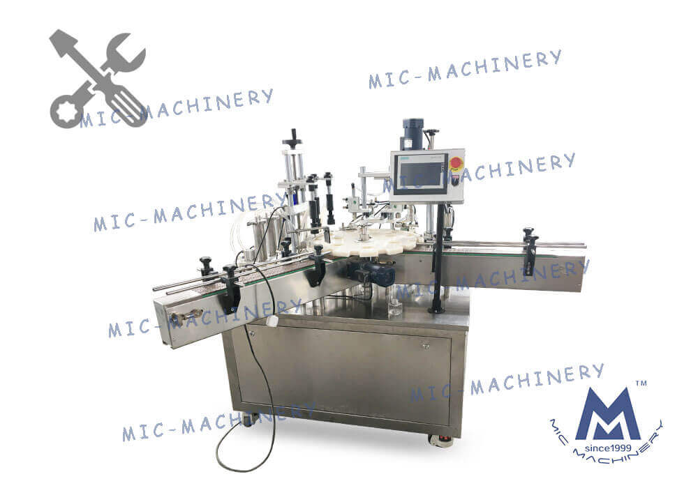 MIC-P40 semi-auto perfume filling & capping machine debugging video