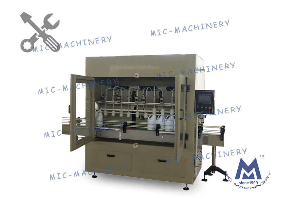MIC-ZF12 anti-corrosive liquid filling machine adjustment