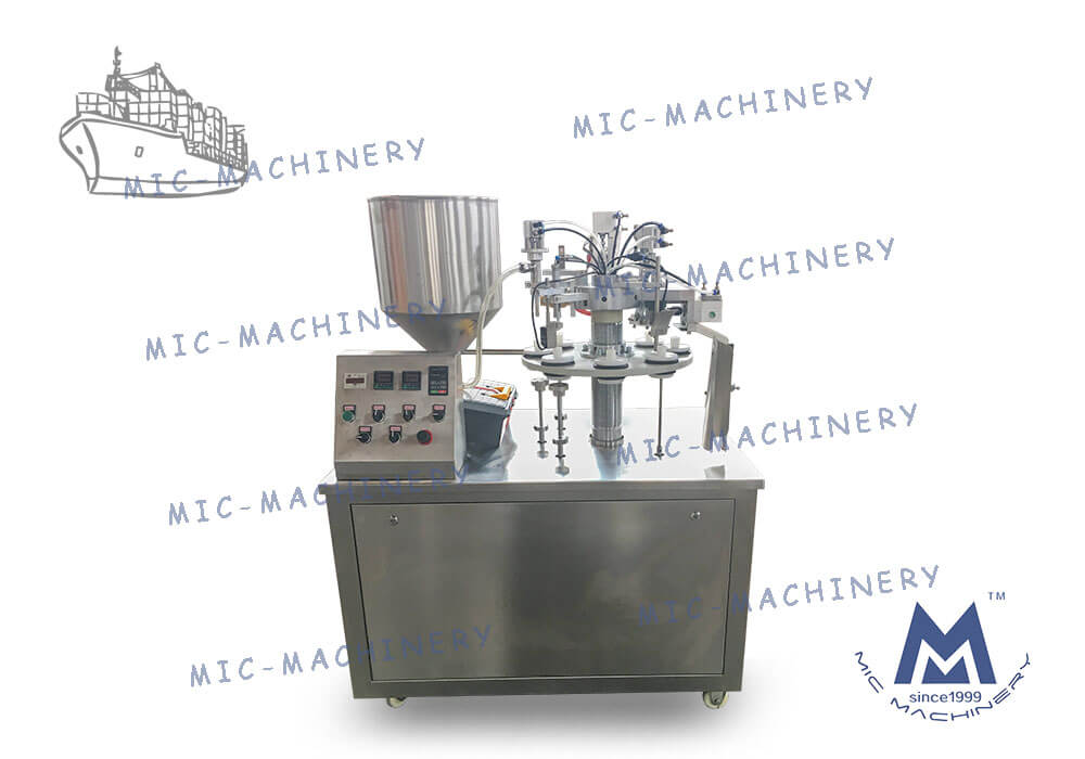 Exported To Russia MIC-R30 Semi Automatic Soft Tube Filling Machine