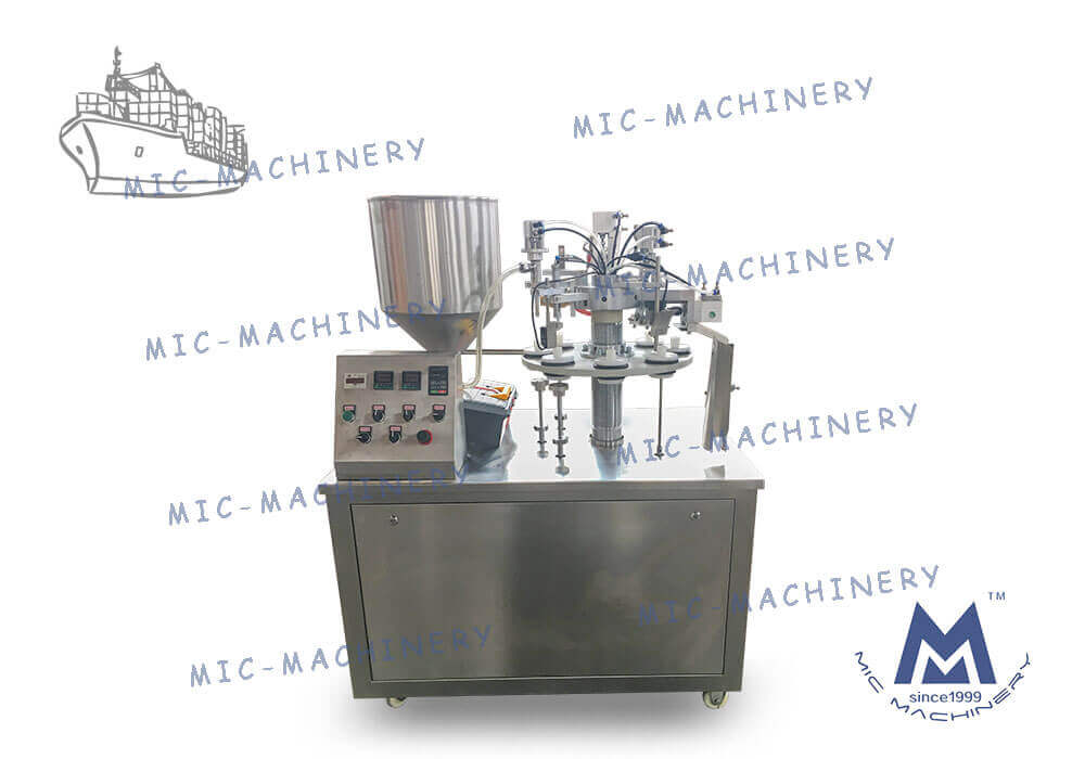Exported to Portugal MIC-R30 Semi automatic soft tube machine