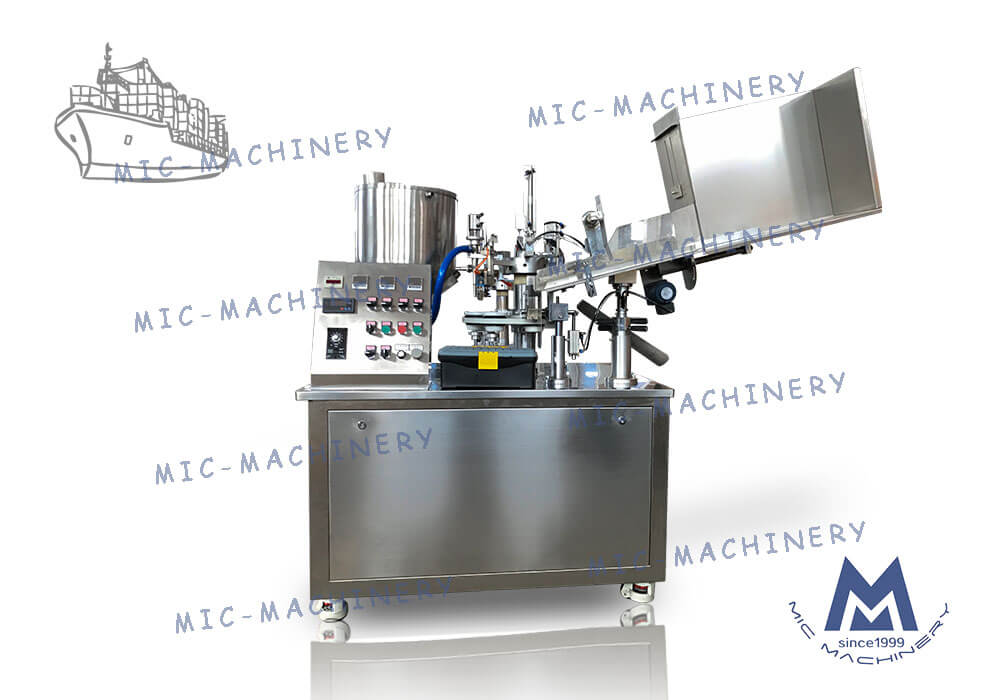 Small automatic MIC-R45-MS glue filling and sealing tail machine Export to Czech Republic