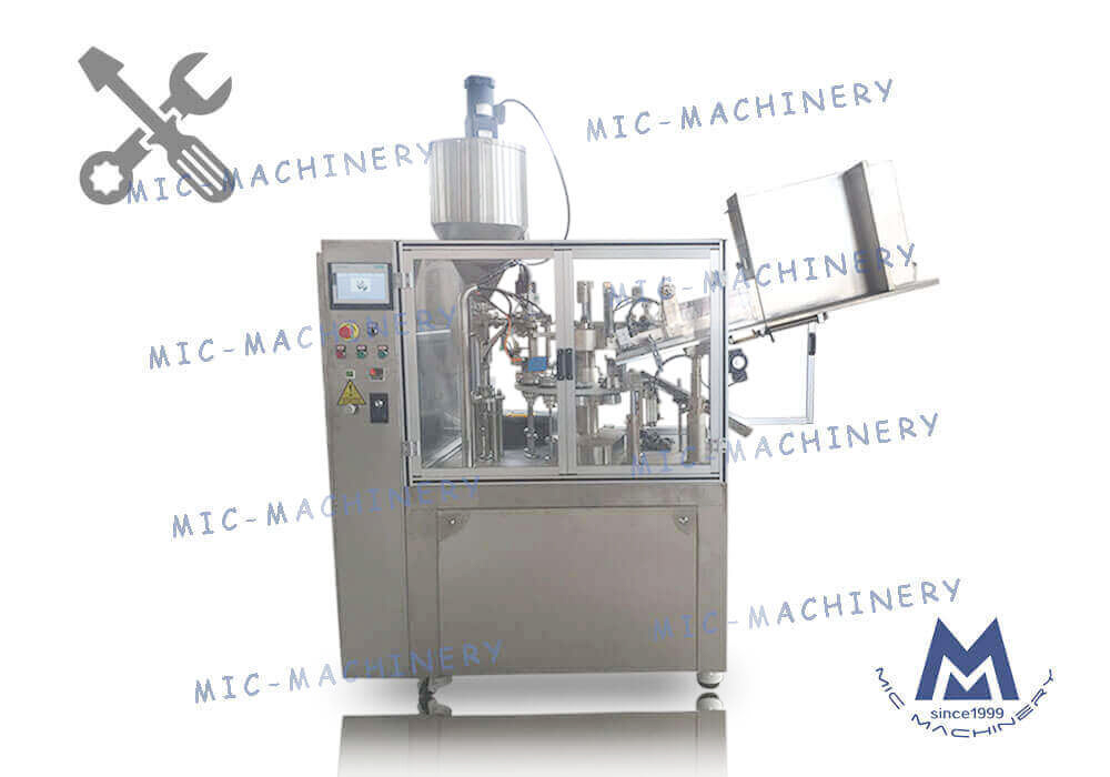 MIC-R60 auto soft tube filling & sealing machine debugging video