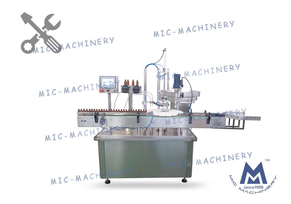 Vial bottle filling capping machine
