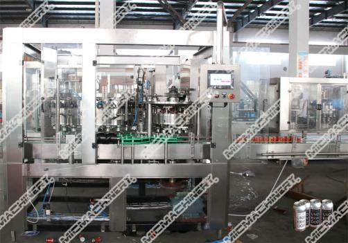 Carbonated drink filling machine for can package