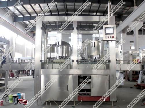 Hot tea filling machine for can package