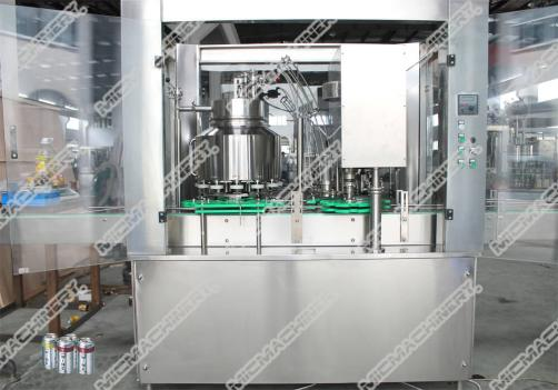 Hot juice filling machine for can package