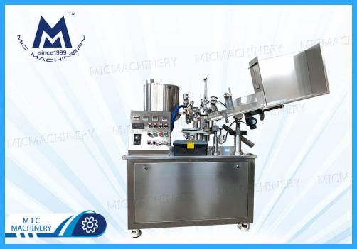 Cream filling machine(MIC-R45 Small automatic soft tube filling sealing  machine)