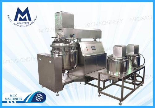 MIC-100L vacuum homogenizer emulsifier mixer tank for cosmetic cream, lotion shampoo, hand sanitizer