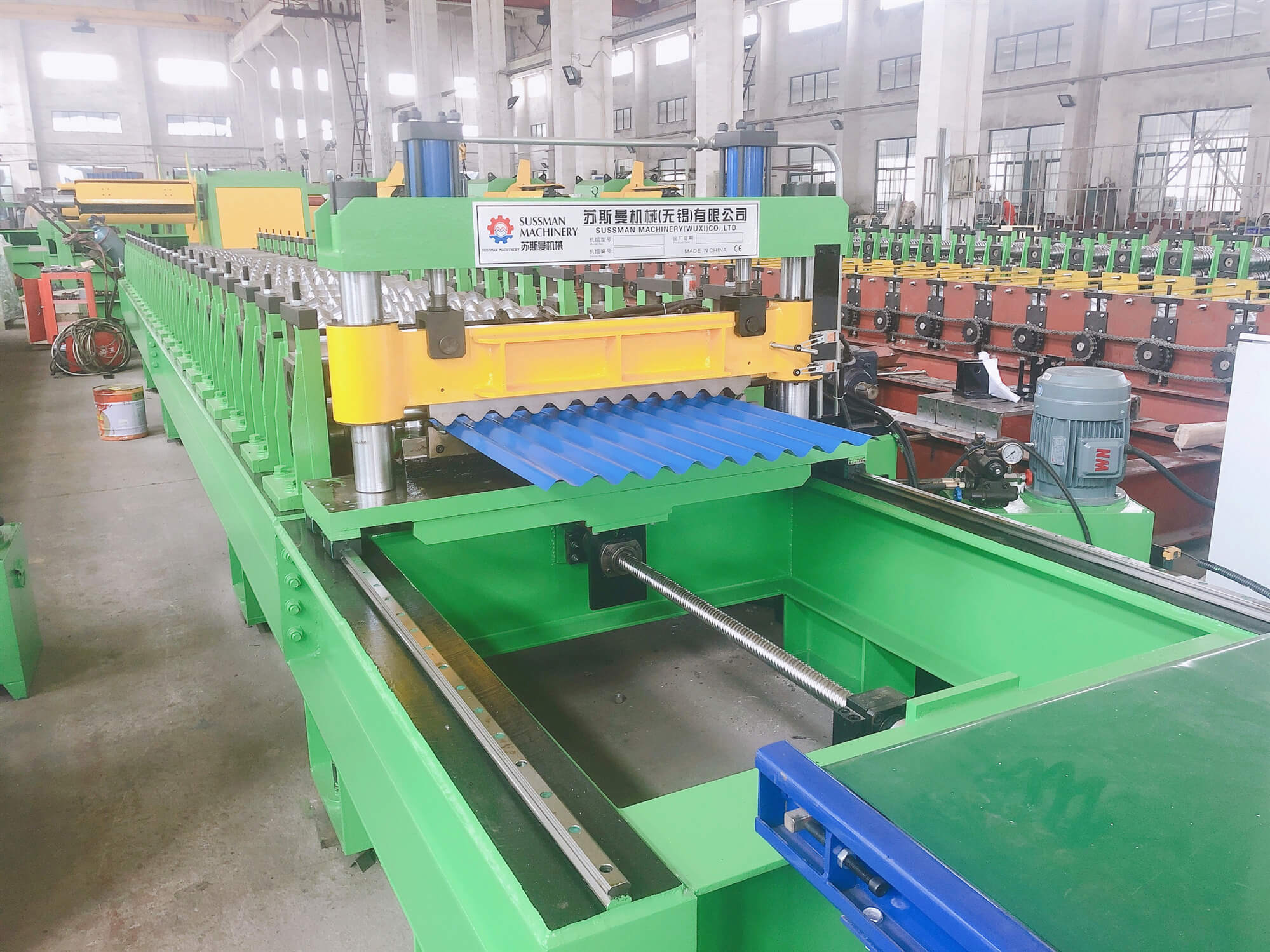 40 Meters Per Minute Servo Following Cutting Corrugated Panel Roll Forming Machine