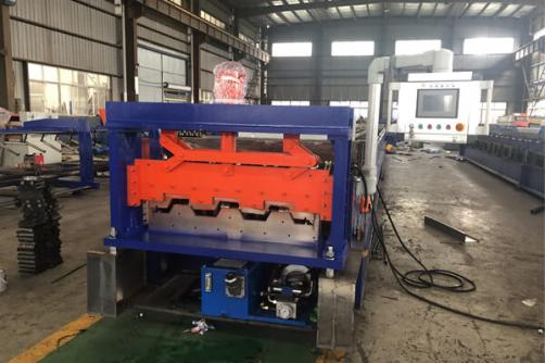 High Speed 0-30m/min Steel Deck Roll Forming Machine
