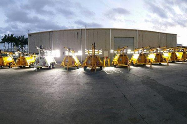 DC48V 300W LED flood light be used on mobile light tower in Australia
