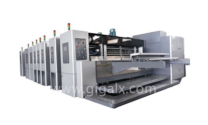 LX-608CN Full Computerized High Speed Flexo Printing Slotting & Die Cutting Machine(Vacuum Suction Conveyer for Printer)