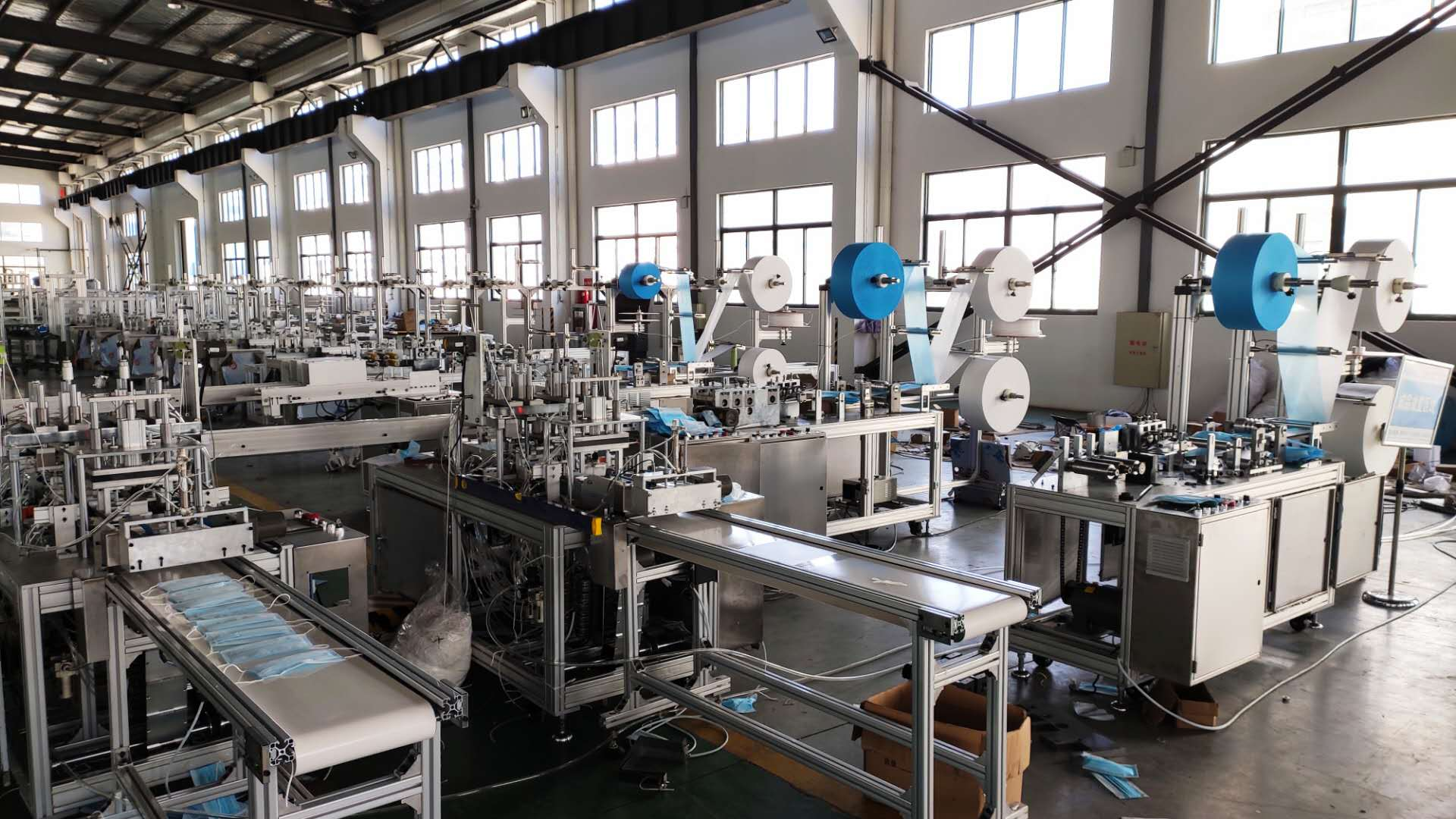 Automatic mask machine disposable mask production line