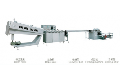 Cylindrical Toffee And Fancy Candy Production Line HTL-T380/380II