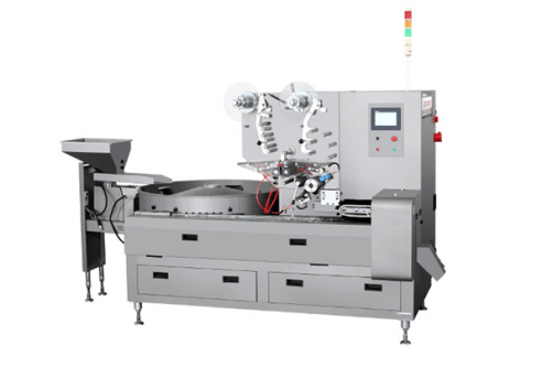 Three Servo High Speed Automatic Pillow Packing Machine HTL-1200a