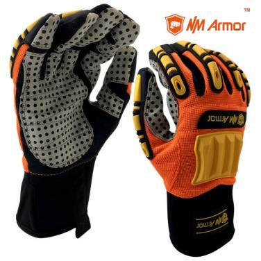 Orange High Quality Impact Resistant Mechanic Work Glove-MC107