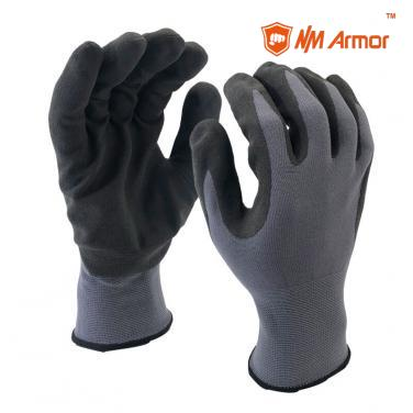 15 Gauge Tight Fit Nylon+Spandex Shell Coated New U-Touch Gloves-NY1350F-UT