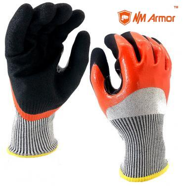 Waterproof Double Dipping Work Glove - DY1355DC-OR/BLK