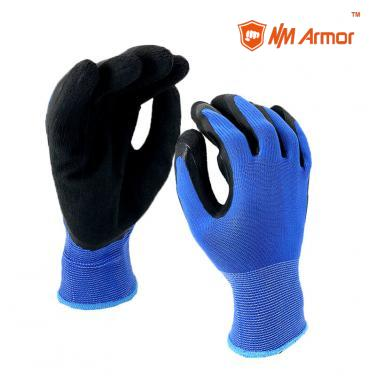 EN388:2131X Rubber palm gardening work protection foam latex gloves-NM1350F-BL