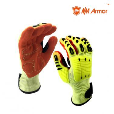 EN388:4544EP Hand Work Cotton Palm Anti Cut Resistant Mechanical Winter Safety Hand-DY1350AC-A7