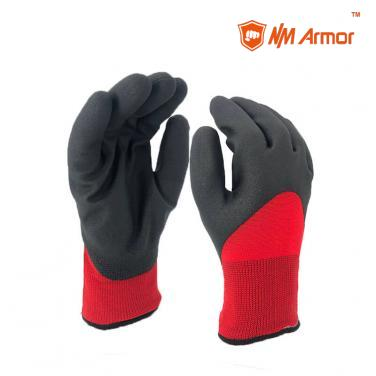 Winter Gloves PVC Foam Warm Work Glove Water Resistant -PVC1355DS-R/BLK