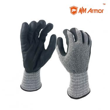 EN388:4121X Nylon spandex micro foam nitrile coated gloves work gloves touch screen-NY1350FRBT