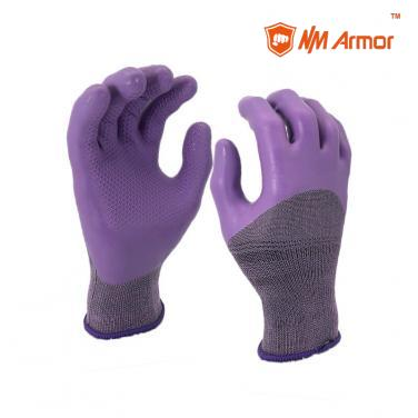 EN388:2131X Polyester spandex working gloves ECO diamond grip gloves-NM1355FP-PK