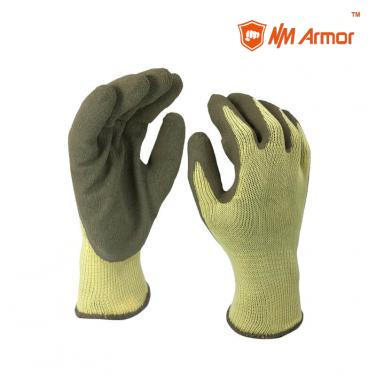 EN388:2016:2142X Latex Dipping Polycotton Construction Gloves -NM10902-Y/GR