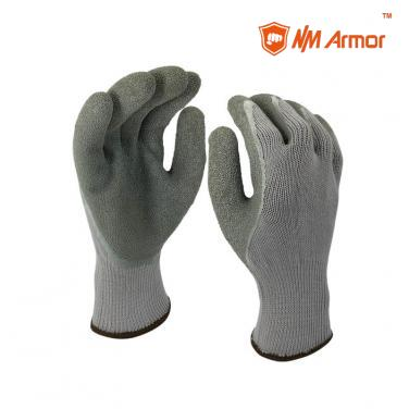 EN388:2142X Latex Dipping Polycotton Construction Gloves -NM10902-GR