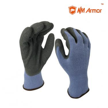 EN388:2142X Latex Dipping Polycotton Construction Gloves -NM10902-BL/GR