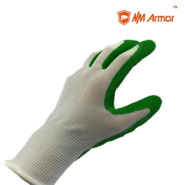 EN388:2131X Green Foam Latex Gloves Garden gloves-NM1350F-W/GN