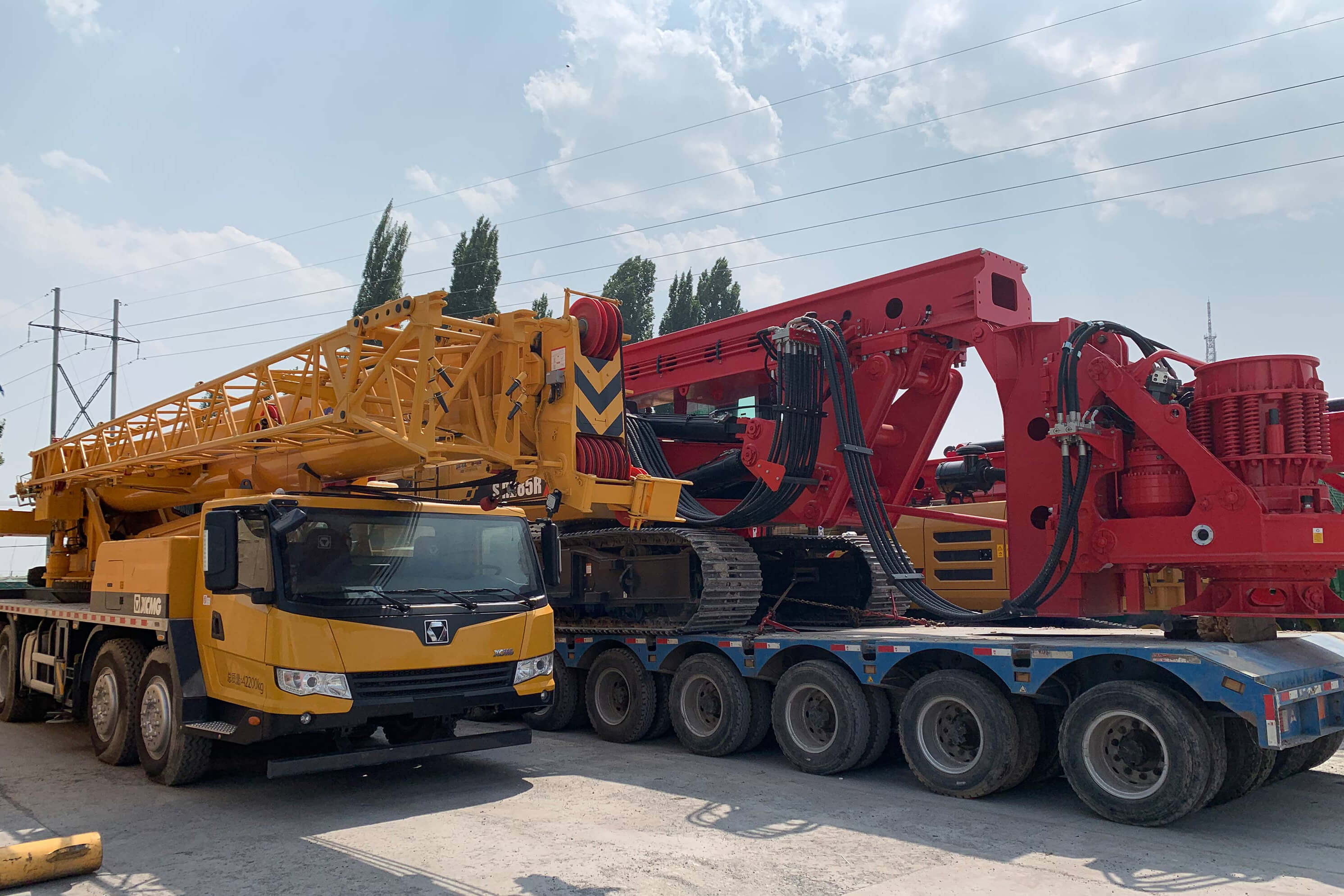 The equipment arrived in Khorgos Port