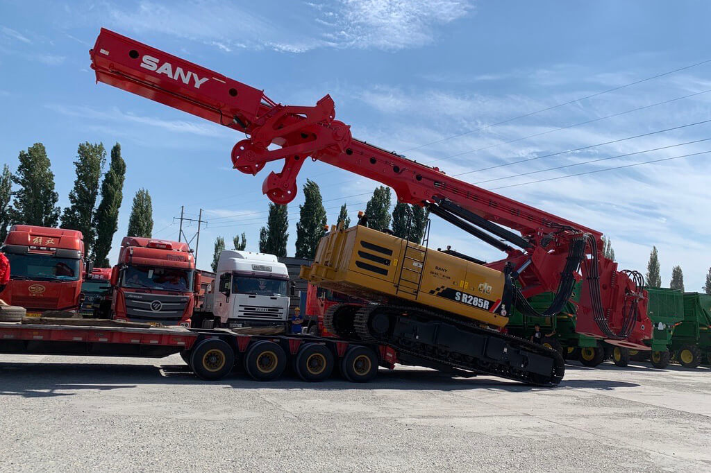 August 2019,the rotary drilling rig was transported toTashkent ,the city of Uzbekistan.