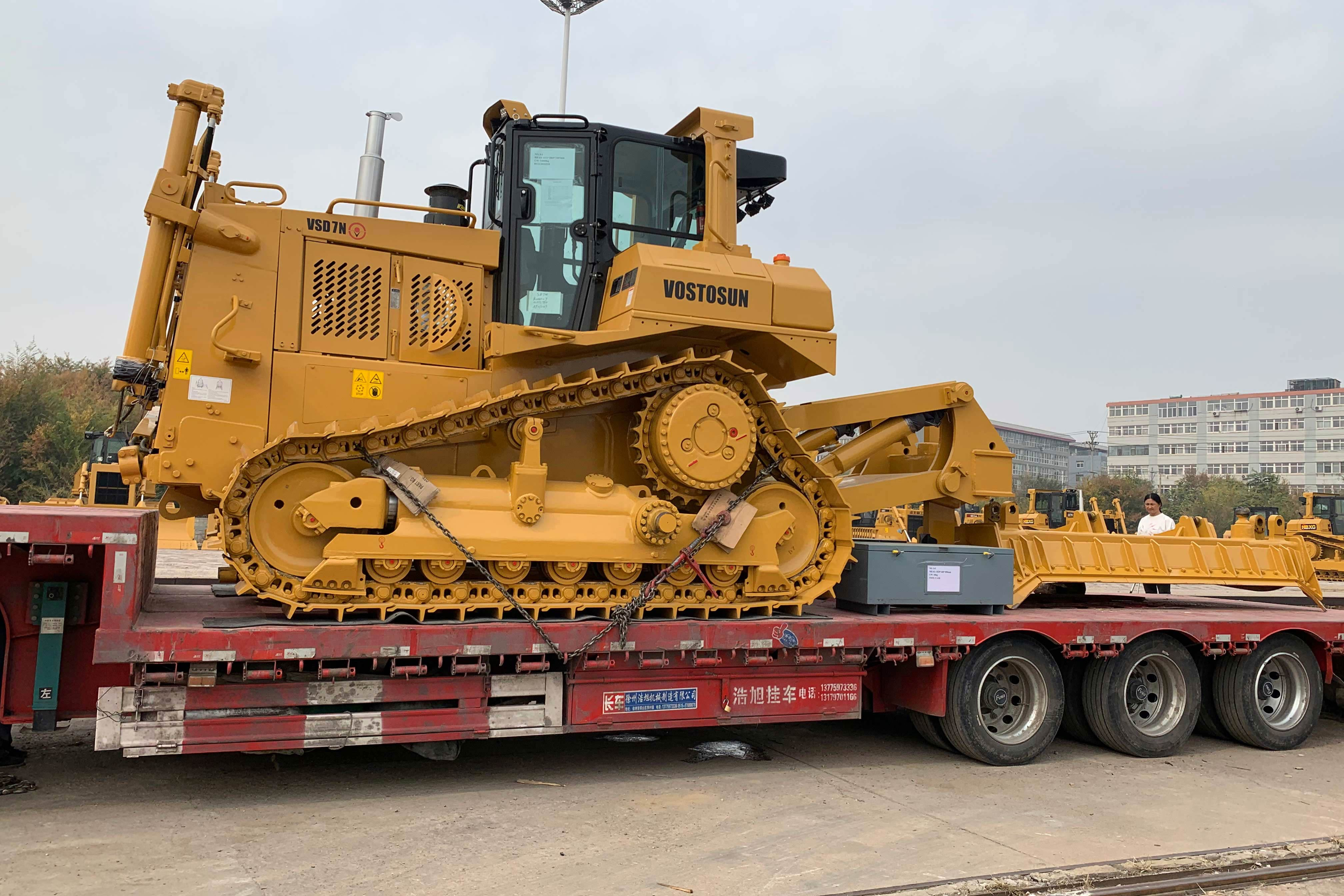 On October 20, 2020, VOSTOSUN's bulldozer VSD7N began to be transported to Russia