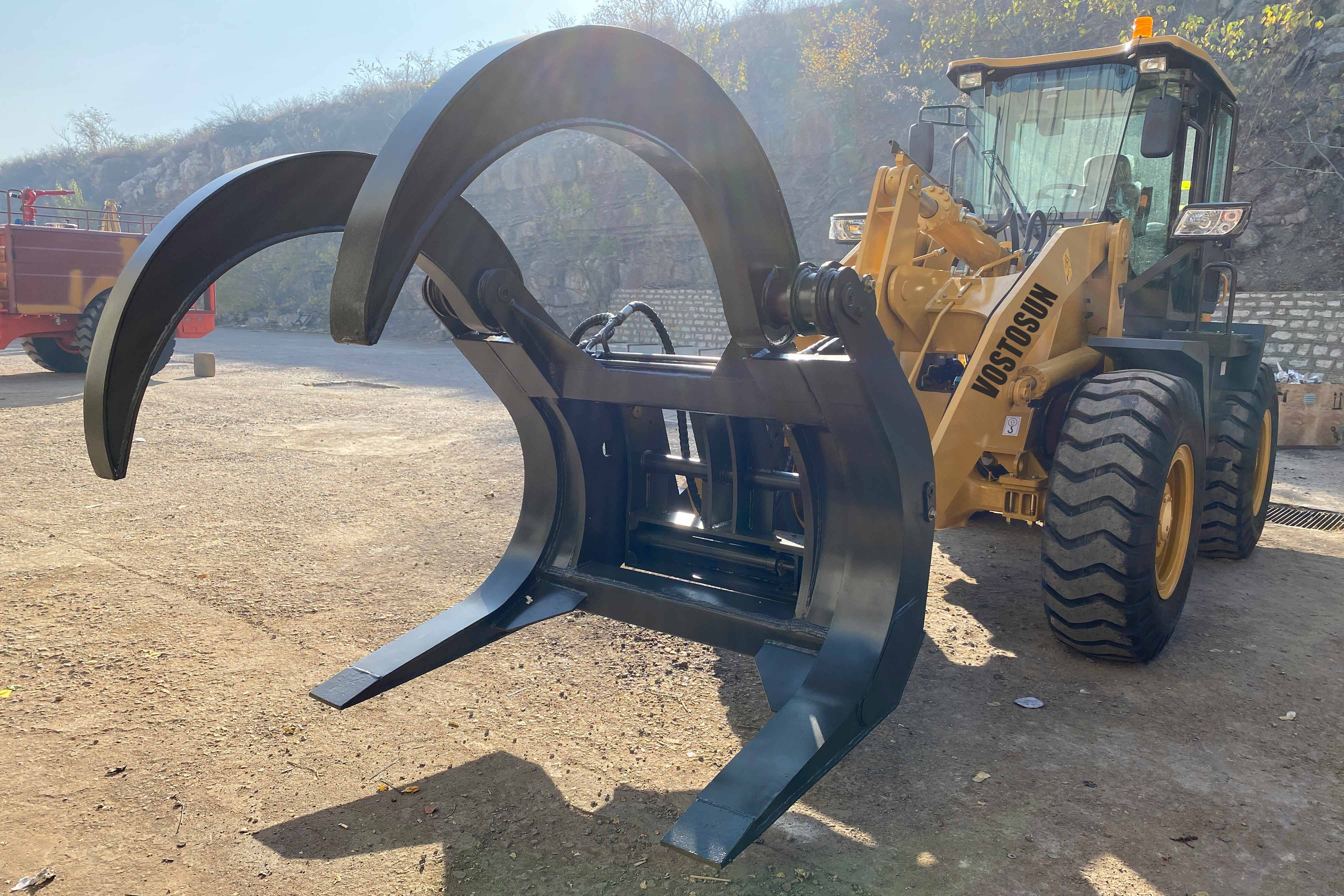 On October 26, the wheel loaders and forklift attachments began to be shipped to Argentina.