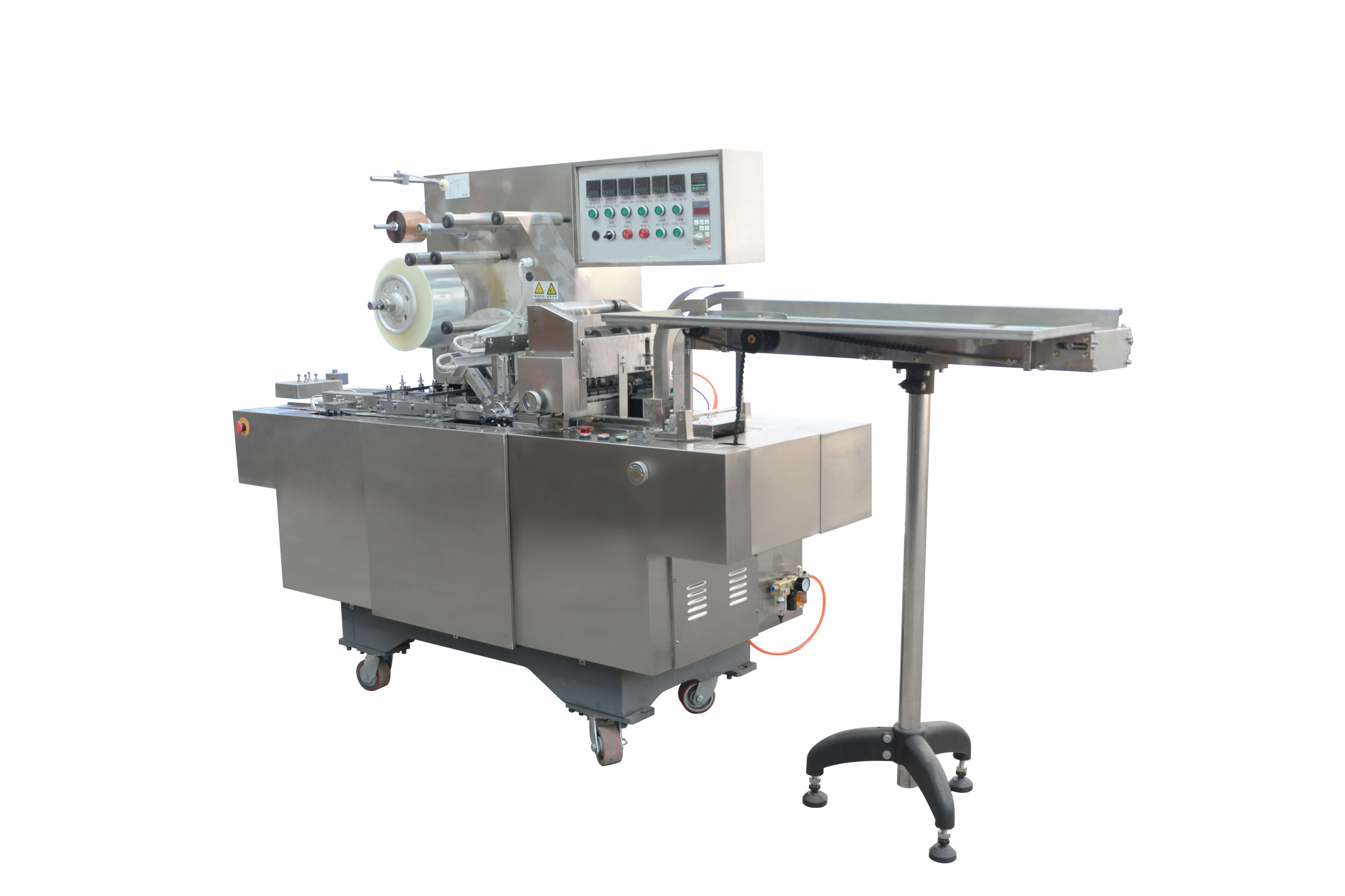 XT-180 Type Adjustable Cellophane 3D Overwrapping Machine(With Tear Tape)