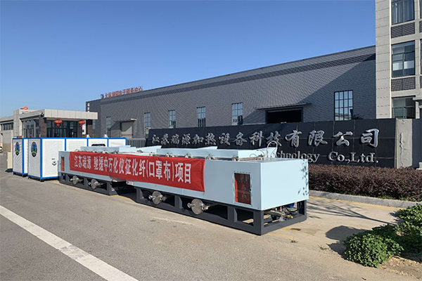 The meltblown machine ready for Sinopec Group
