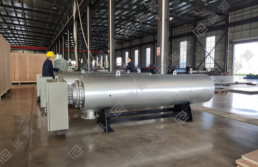 electrical process air heater for meltblown fabric in polypropylene spunbond nonwoven line