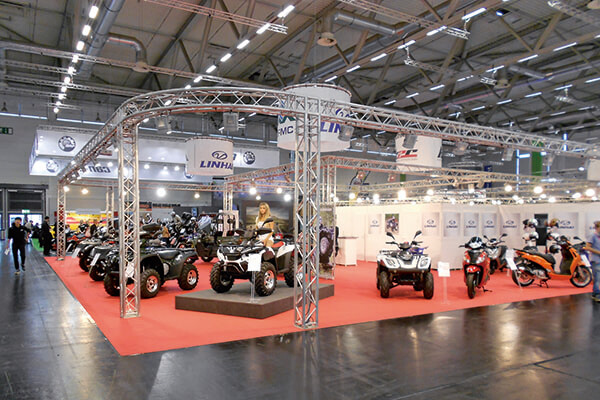Linhai in Intermot Show which held in Cologne, Germany
