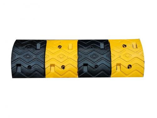 Yellow and Black Good Price Flexible Rubber Speed Hump
