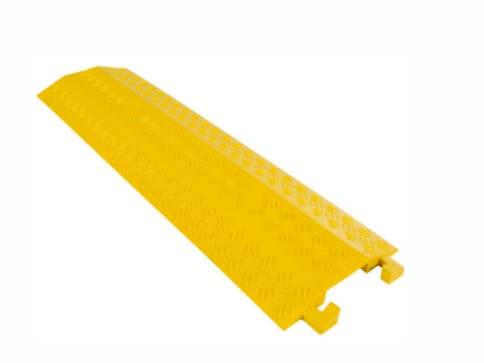 Yellow Cable Ramp Indoor Speed Bumps Plastic Floor Covering for Electric Wire Cable